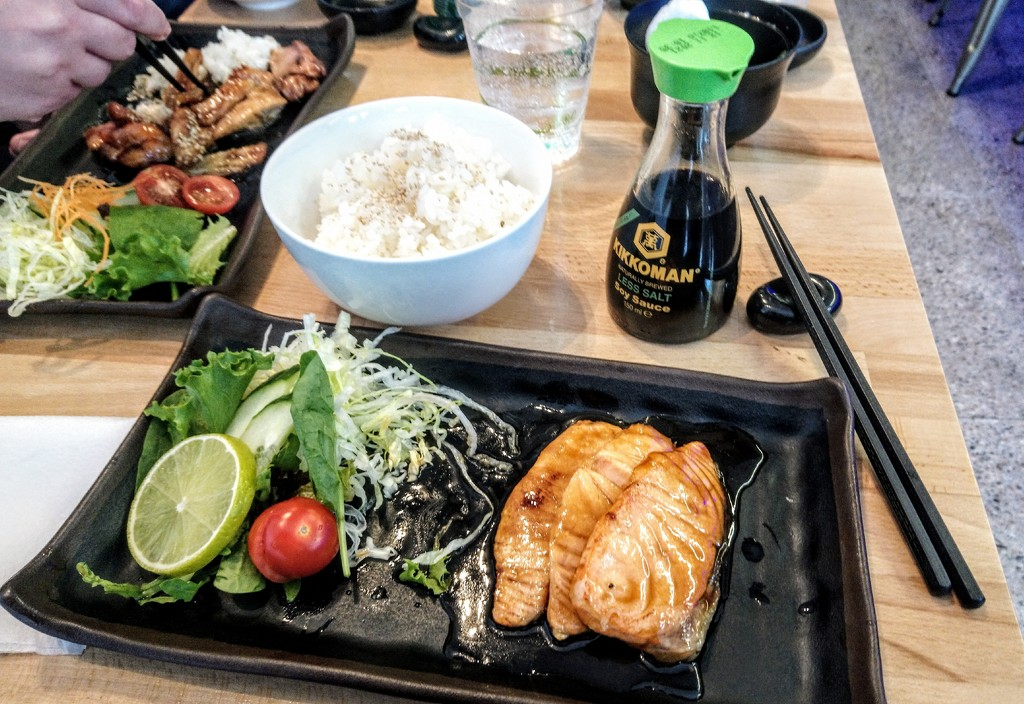 Salmon teriyaki by boxplayer