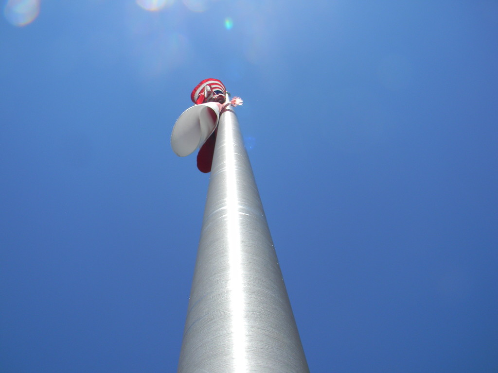 Looking Up at Flagpole by sfeldphotos