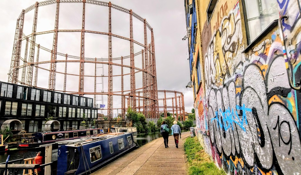 Gasholders from the Regent's Canal by boxplayer