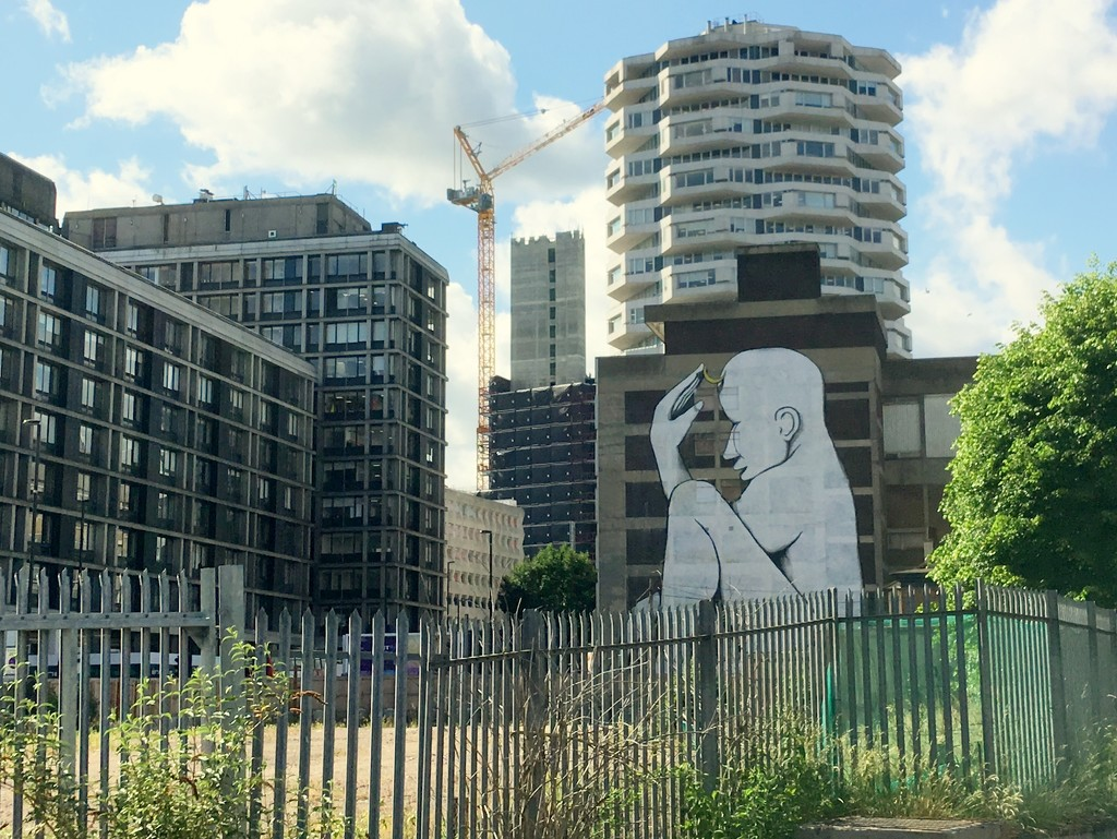 The Thinker Child by RUN, East Croydon by boxplayer