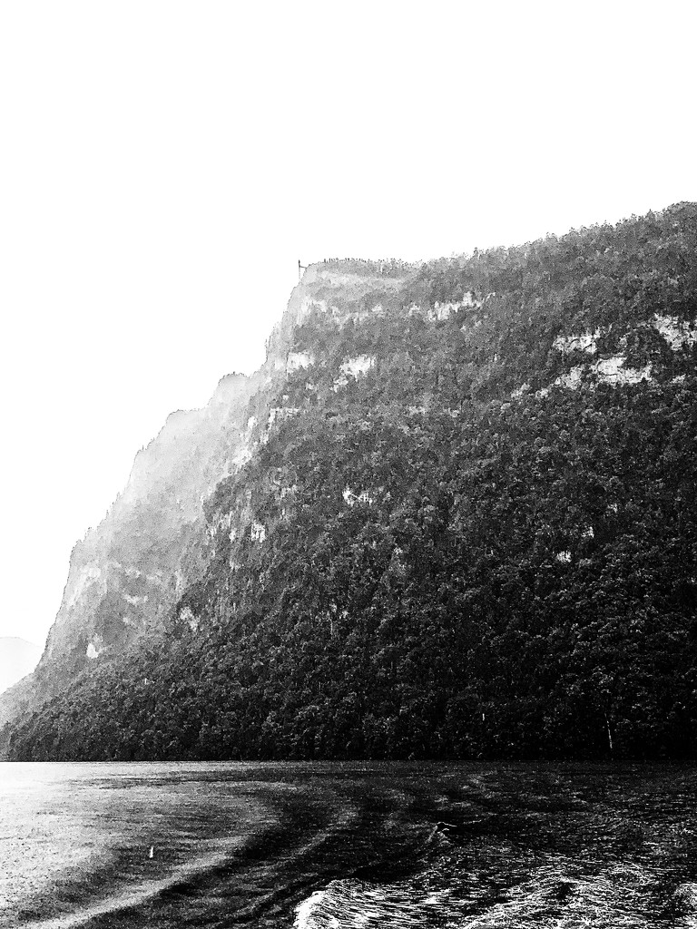 Black and white mountain.  by cocobella