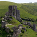 27th May Corfe Castle from ridge