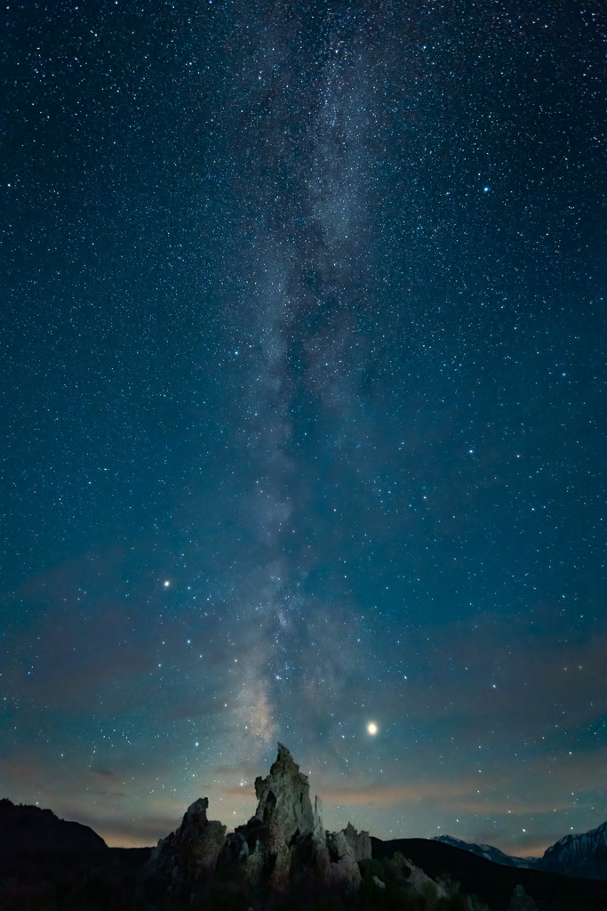 Mono Lake South Tufas and the Milky Way by mikegifford