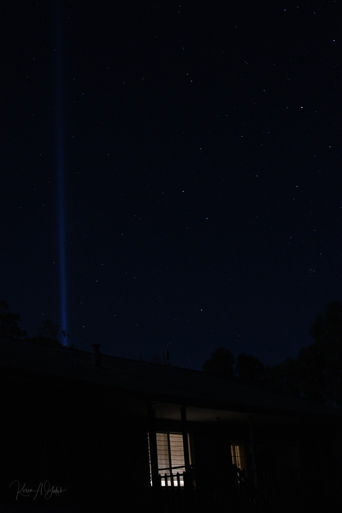 Night's sky above our house - BOB by kgolab