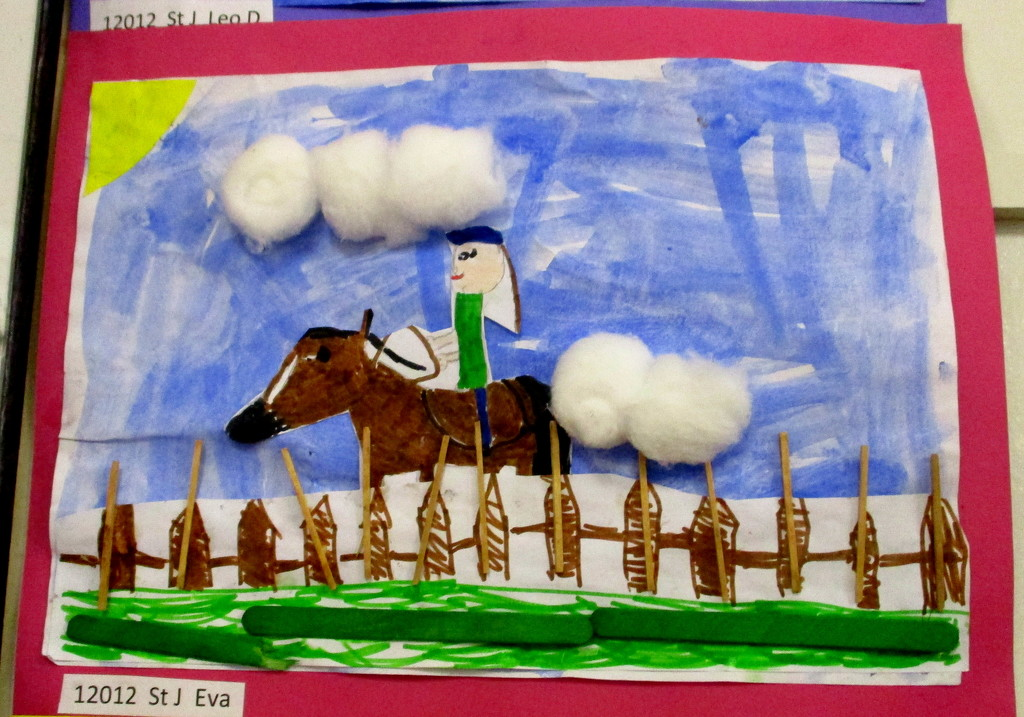 The show is all about horses!!, collage by a school child by 777margo