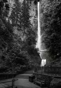 23rd Jun 2019 - Black and White Multnoma Falls Before the Fire