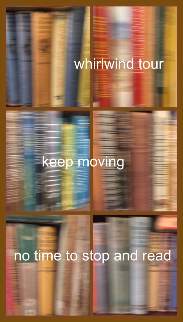 Whirlwind tour of my bookshelves by mcsiegle