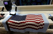 25th Jun 2019 - Ready to quilt my flag