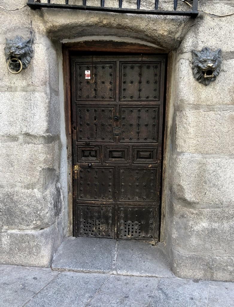 Old door in Madrid by loweygrace
