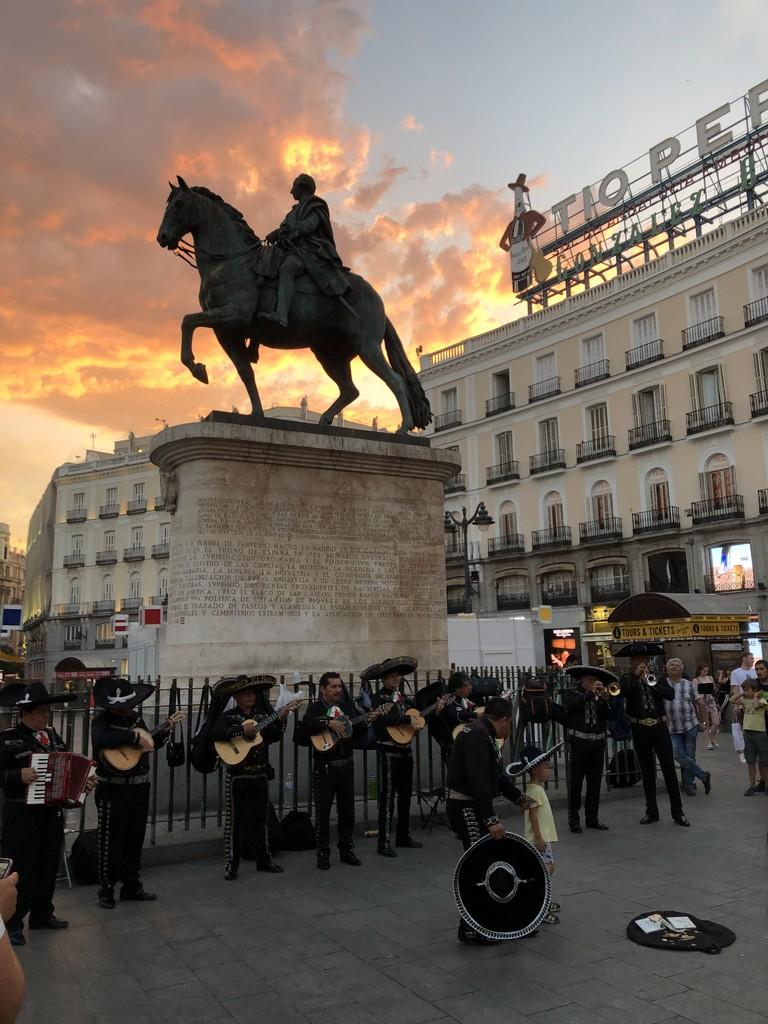 Madrid sunset by loweygrace
