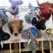 Animals made out of felt at the KNITFEST