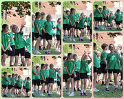 7th Jul 2019 - Grace at her sports day acting the fool while waiting to run in the relay race!