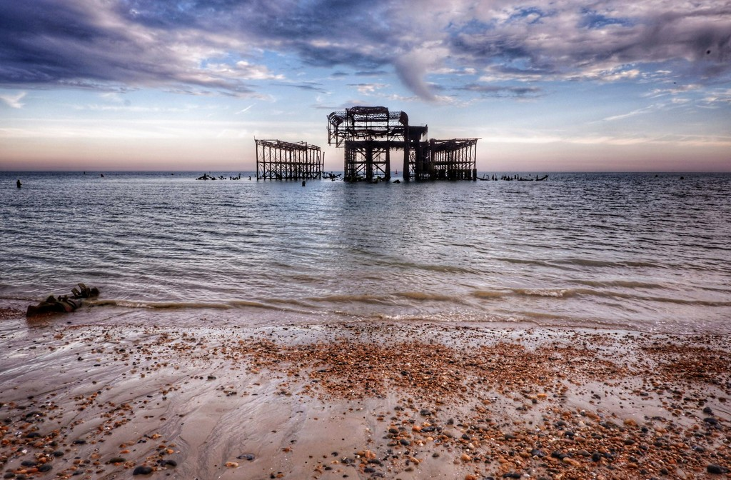 West Pier at low tide by 4rky