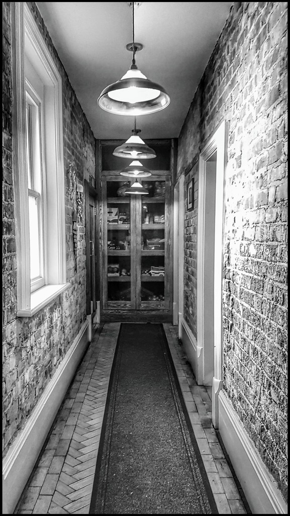 A meet up with friends and really liked this corridor to the ladies! by lyndamcg