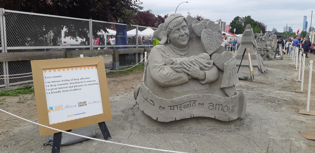 Sand Sculpture....Love by bkbinthecity