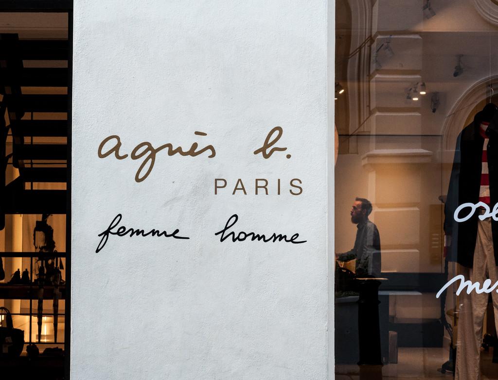 Agnés b framed  by brigette