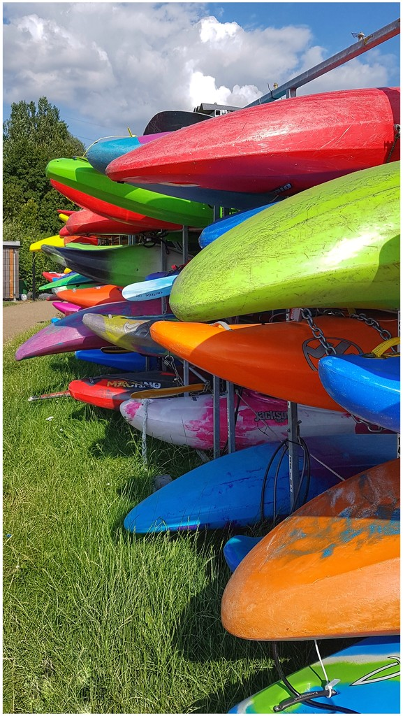 Colourful canoes! by lyndamcg