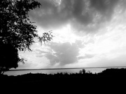 14th Jul 2019 - Before sundown - two cloud formations- bw