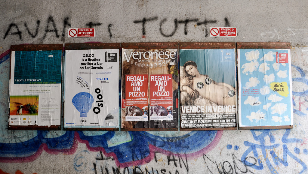 Venezia graffiti framed by brigette