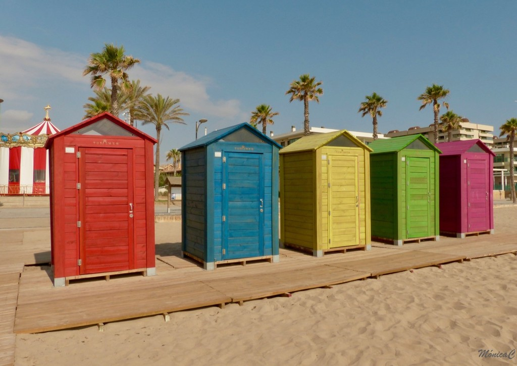 Beach huts by monicac