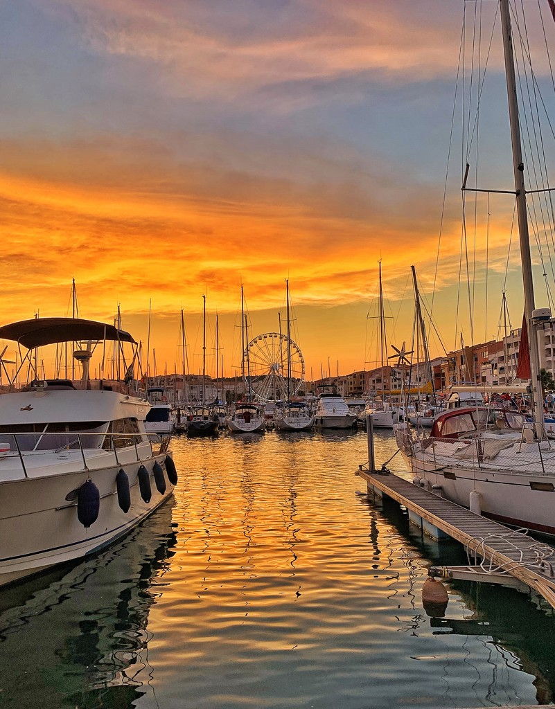Orange sunset by cocobella