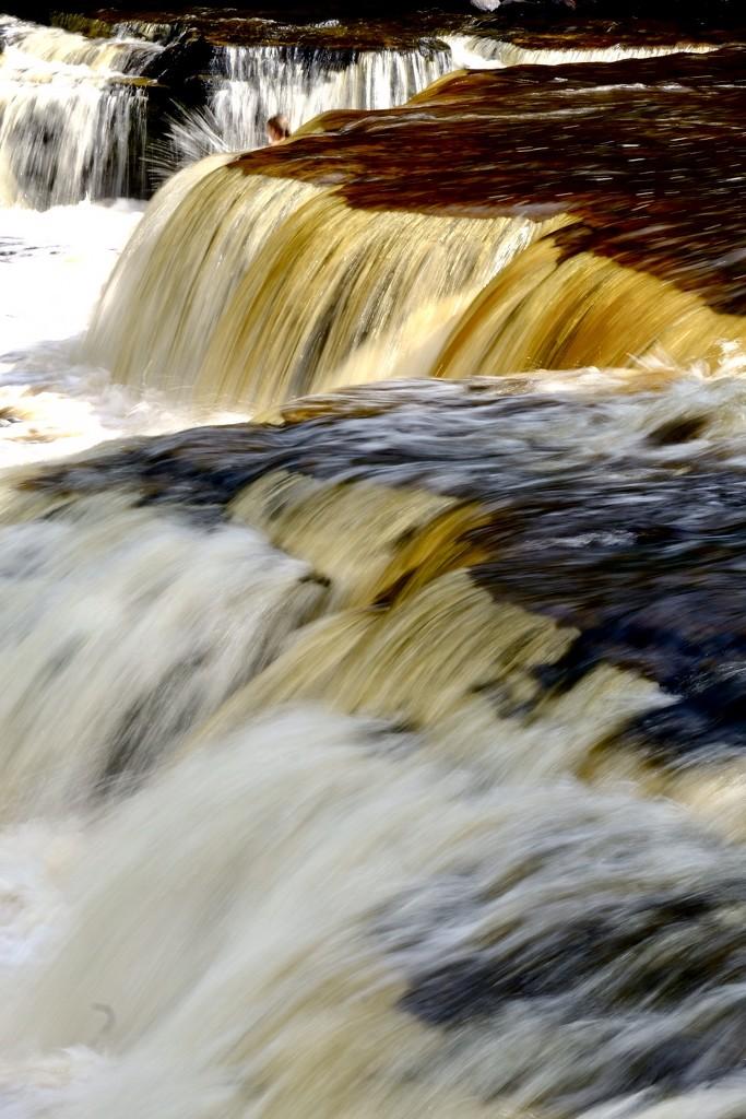 Tahquamenon Falls, lower falls by vera365