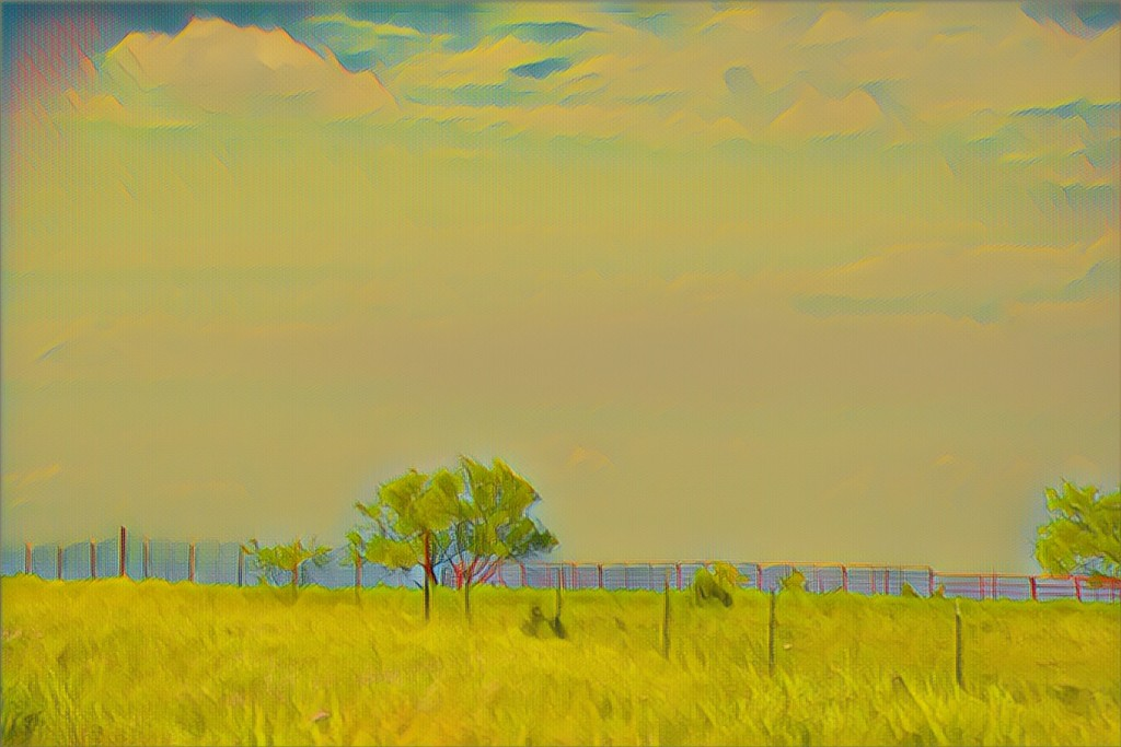 A Texas Prairie at 75 mph by louannwarren