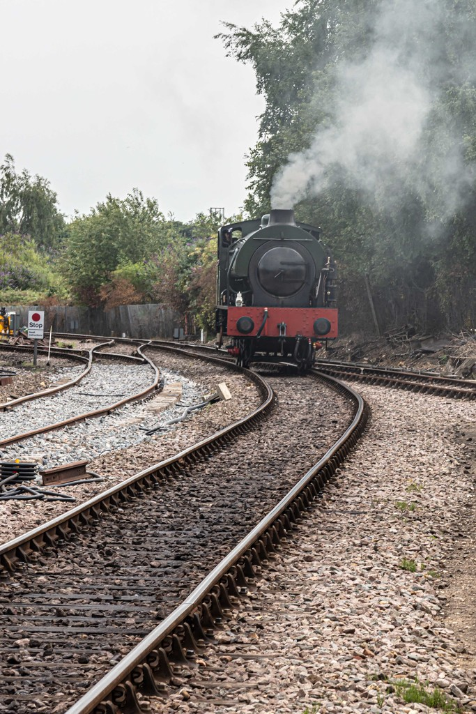 Steam up at Mid-Norfolk line by padlock