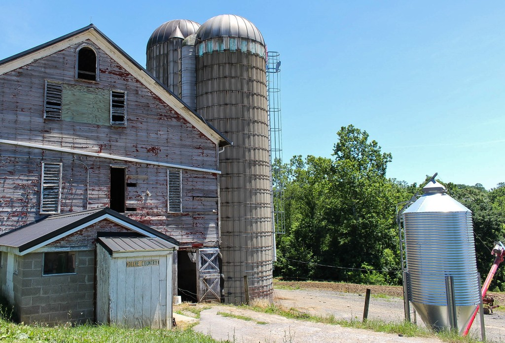 Barn and silos by mittens