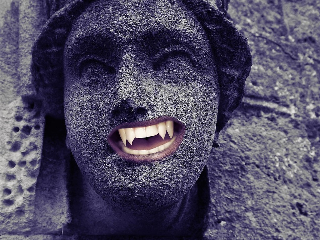 Stone face vampire #1 by ajisaac
