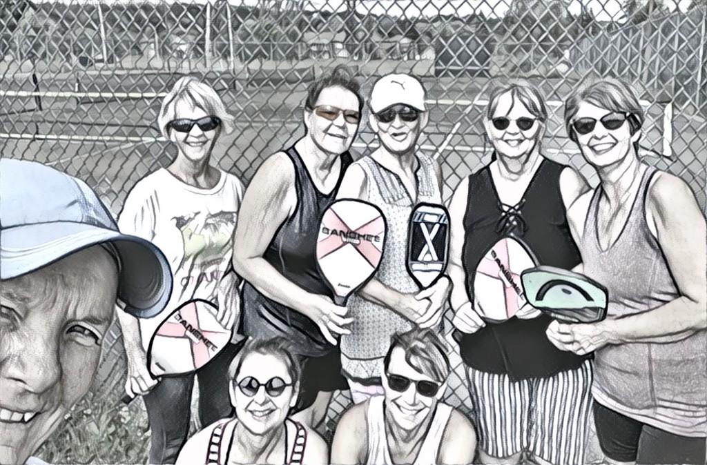 Ladies Pickleball group  by radiogirl