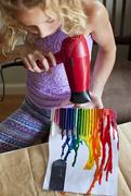 15th Jul 2019 - Melting crayons