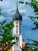 22nd Jul 2019 - Burgau church tower and stork nest