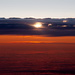 Sunset from the air by teriyakih