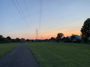 22nd Jul 2019 - Evening walk with the hubby as the sun goes down...