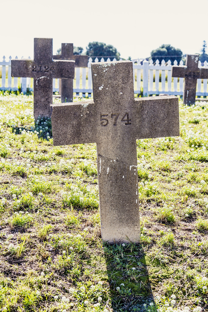 Prisoner's gravestones have numbers, not names by corymbia