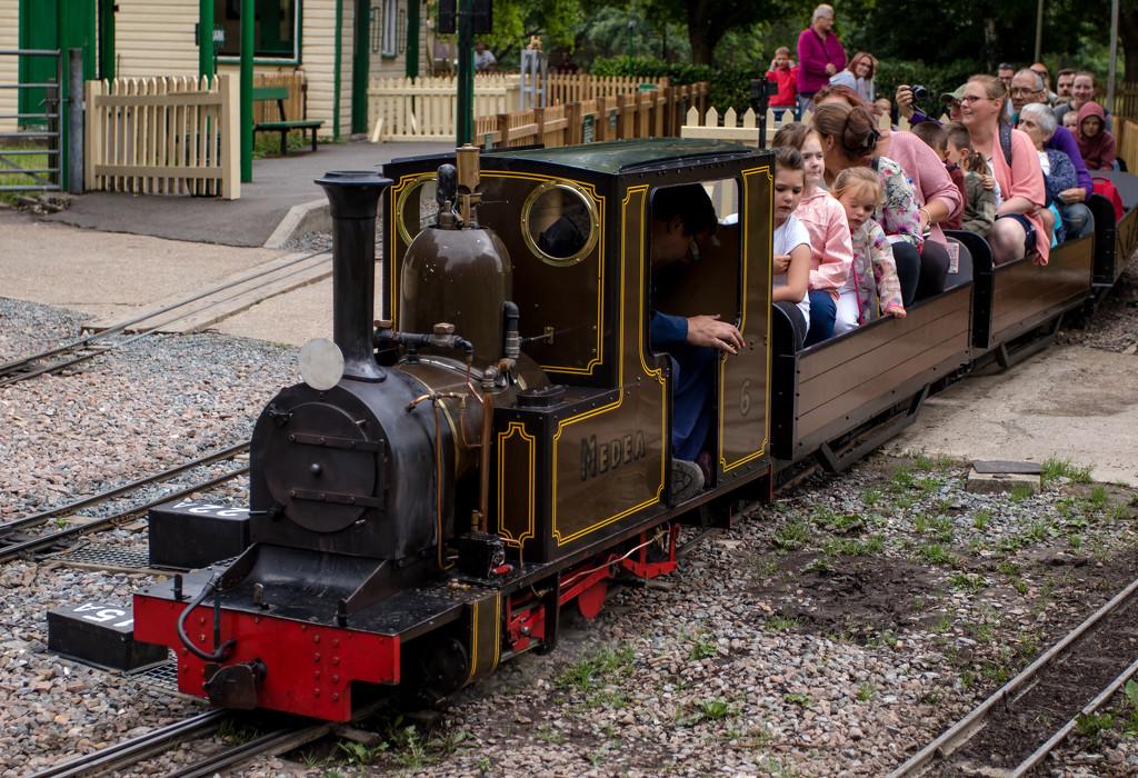 Miniature steam train by peadar