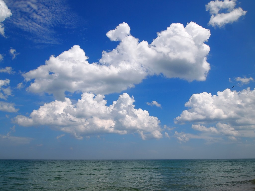 clouds over Lake Michigan by blueberry1222