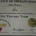 Pet Therapy Certification