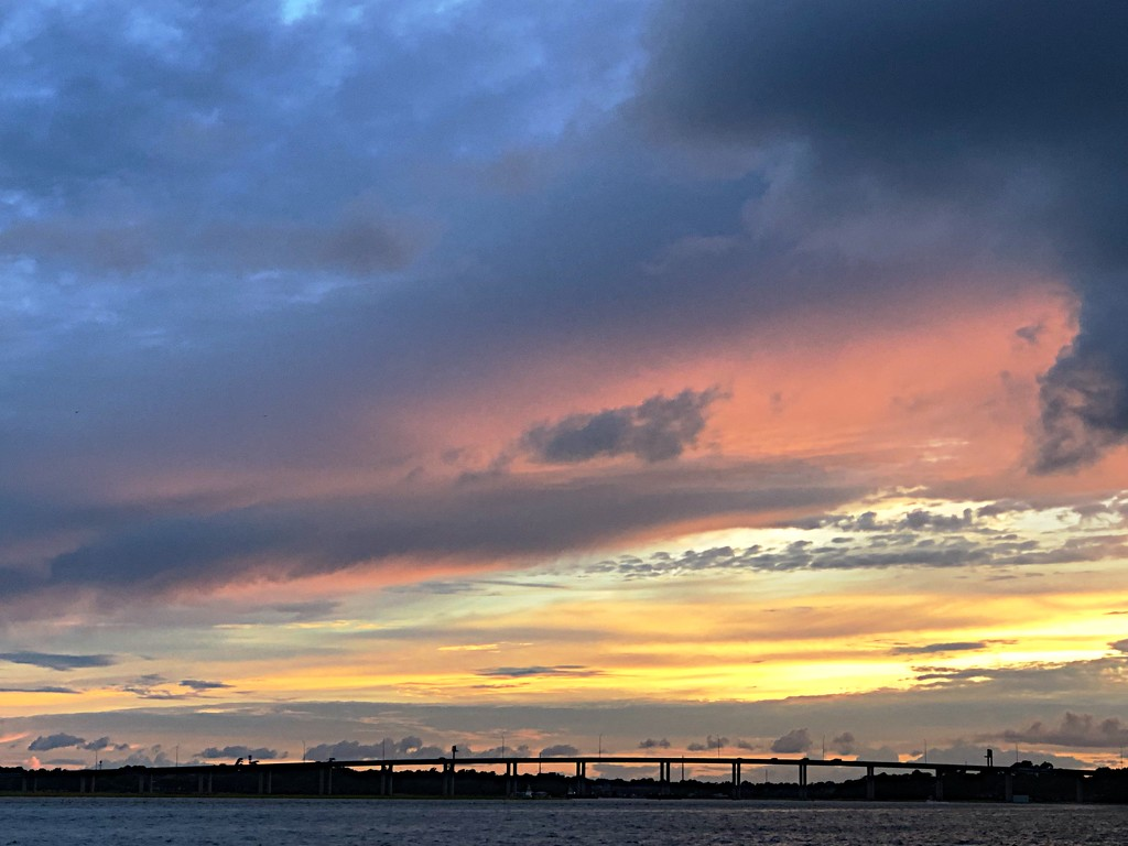 Layered sunset over the Ashley River, Charleston by congaree