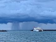 6th Aug 2019 - Rain chasing a boat.