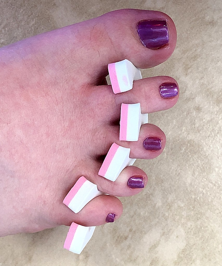 Pretty Purple Piggies by homeschoolmom