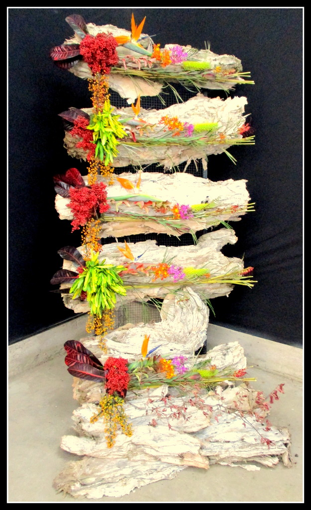 Its not food,  its a flower arrangenent wrapped in paper bark by 777margo