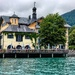 A beer garden on Lake Tegernsee