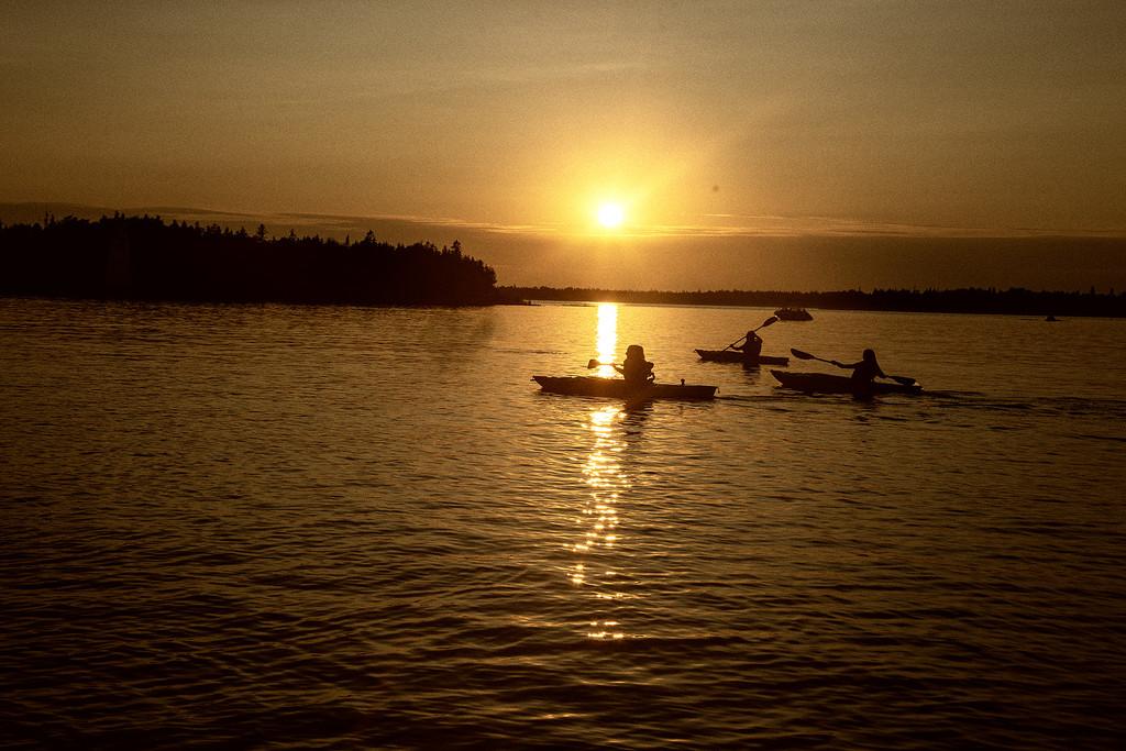 Sunset Canoe Ride by pdulis