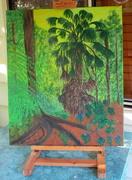 12th Aug 2019 - Completed my back yard jungle painting
