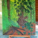 Completed my back yard jungle painting