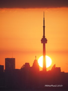 19th Jul 2019 - Sun Caught by the CN Tower