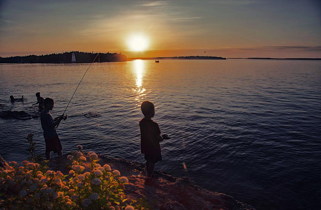 Sunset Fishing by pdulis
