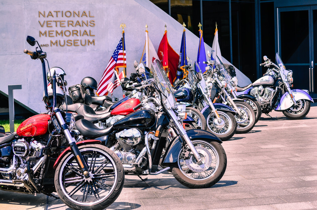 Veteran's Bikes on Display by ggshearron